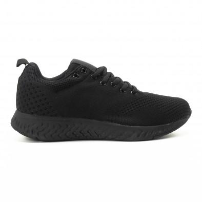 Ανδρικά μαύρα πλεκτά αθλητικά παπούτσια it301118-5 2