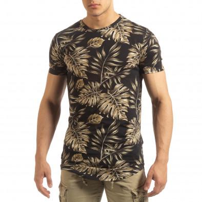 Ανδρική μαύρη κοντομάνικη μπλούζα Uniplay it090519-56 2