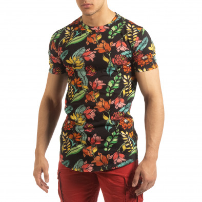 Ανδρική πολύχρωμη φλοράλ κοντομάνικη μπλούζα  it090519-59 2