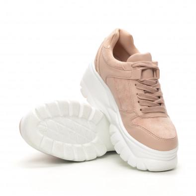 Γυναικεία ροζ sneakers Chunky it150419-121 4