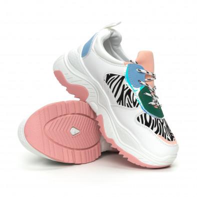 Γυναικεία πολύχρωμα αθλητικά παπούτσια Chunky με animal μοτίβα it150319-60 4