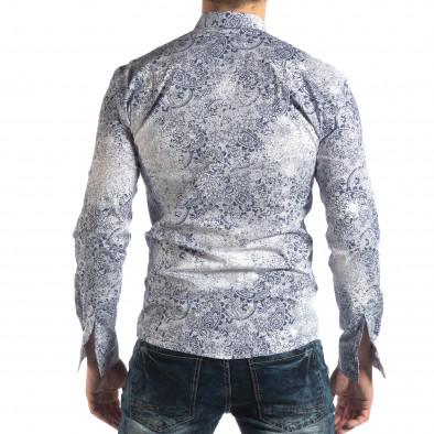 Ανδρικό λευκό Slimf fit πουκάμισο Vintage στυλ it210319-97 4