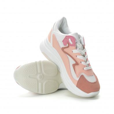 Γυναικεία ροζ αθλητικά παπούτσια με χοντρή σόλα it270219-5 4