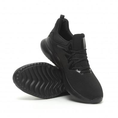 Ανδρικά μαύρα αθλητικά παπούτσια ελαφρύ μοντέλο it230519-5 4
