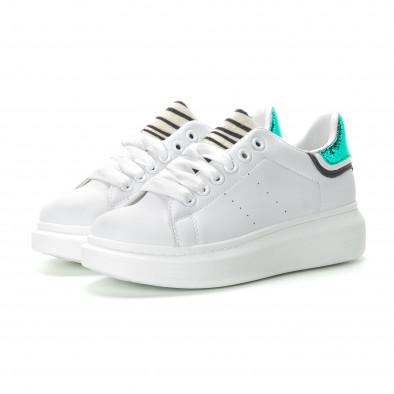 Γυναικεία λευκά sneakers με animal μοτίβα it270219-10 3