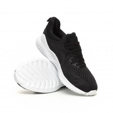 Ανδρικά μαύρα αθλητικά παπούτσια FM it200619-1 4