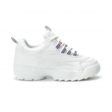 Γυναικεία λευκά sneakers με πλατφόρμα it250119-87 2