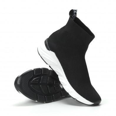 Γυναικεία μαύρα ψηλά sneakers καλτσάκι it250119-59 5
