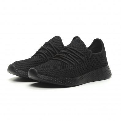 Ανδρικά μαύρα αθλητικά παπούτσια Mesh  it230519-6 3