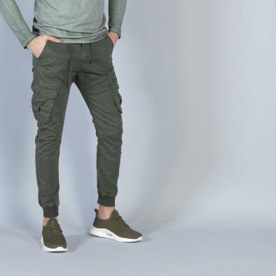 Ανδρικό πράσινο Cargo Jogger παντελόνι it040219-28 2