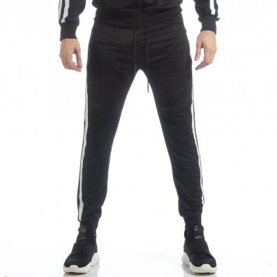Ανδρικό μαύρο αθλητικό σετ Biker στυλ ss-S756A-S756B-1 5