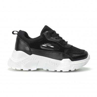 Γυναικεία μαύρα sneakers με πλατφόρμα it250119-68 3