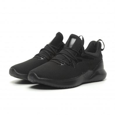 Ανδρικά μαύρα αθλητικά παπούτσια ελαφρύ μοντέλο it230519-5 3