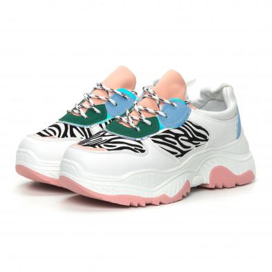 Γυναικεία πολύχρωμα αθλητικά παπούτσια Chunky με animal μοτίβα it150319-60 3