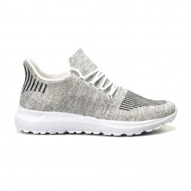 Ανδρικά λευκά μελάνζ αθλητικά παπούτσια it140918-18 2