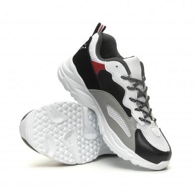Ανδρικά Chunky αθλητικά παπούτσια σε άσπρο it040619-9 4