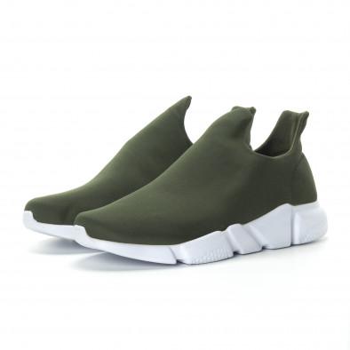 Ανδρικά πράσινα νεοπρέν αθλητικά παπούτσια Slip-on it270219-1 3