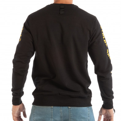 Ανδρική μαύρη βαμβακερή μπλούζα EXPLICIT it240818-143 4