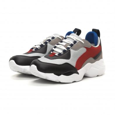 Ανδρικά γκρι αθλητικά παπούτσια Chunky it150419-117 3