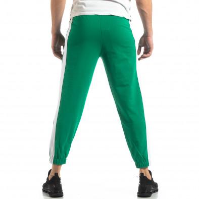 Ανδρική πράσινη φόρμα με λευκή ρίγα it210319-55 4