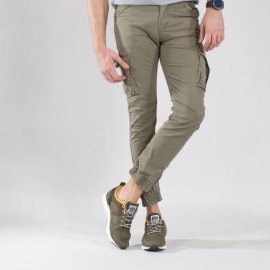 Ανδρικά πράσινα αθλητικά παπούτσια με κορδόνια it150319-31 2