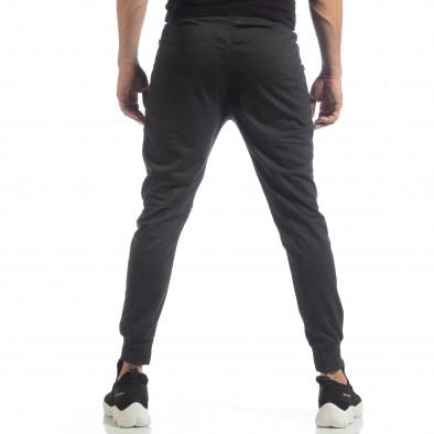 Ανδρικό Jogger Biker σε σκούρο γκρι χρώμα it040219-47 3