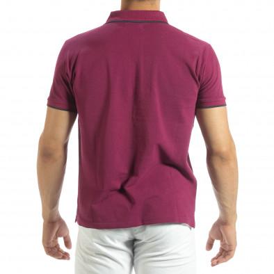 Ανδρική κόκκινη polo shirt  it120619-27 3