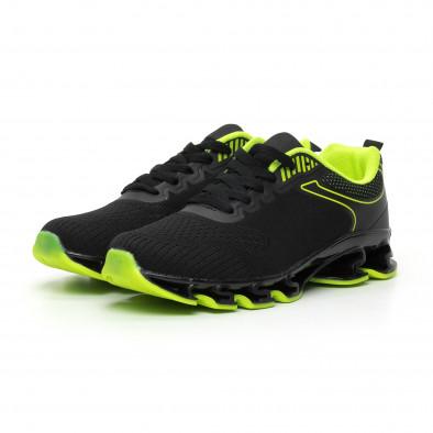 Ανδρικά μαύρα και νέον αθλητικά παπούτσια Blade it110919-7 3
