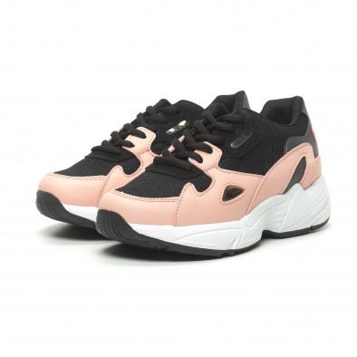Γυναικεία ροζ αθλητικά παπούτσια με χοντρή σόλα it230519-19 3