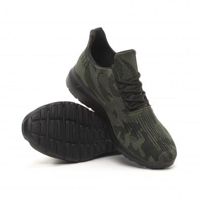 Ανδρικά πράσινα αθλητικά παπούτσια παραλλαγής it150419-120 4