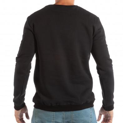 Ανδρική μαύρη μπλούζα με κόκκινο κέντημα it240818-130 3
