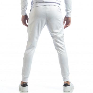 Ανδρική λευκή φόρμα με μαύρες ρίγες it040219-75 4