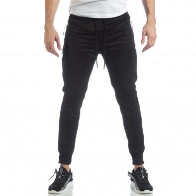Ανδρικό Jogger Biker σε μαύρο χρώμα it040219-48 2