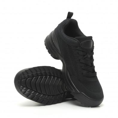 Ανδρικά μαύρα αθλητικά παπούτσια All Black με Chunky σόλα it230519-12 4