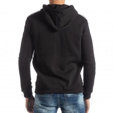 Ανδρικό μαύρο φούτερ με επένδυση ICONS it051218-49 3