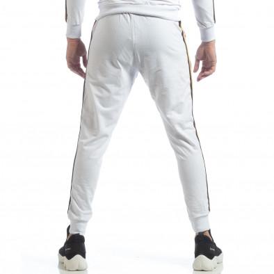 Ανδρική λευκή φόρμα 5 striped it040219-64 4