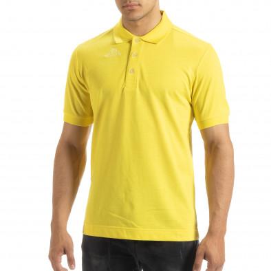 Ανδρική κίτρινη polo shirt Kappa regular fit it120619-21 3