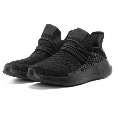 Ανδρικά μαύρα αθλητικά παπούτσια ελαφρύ μοντέλο it301118-7 3