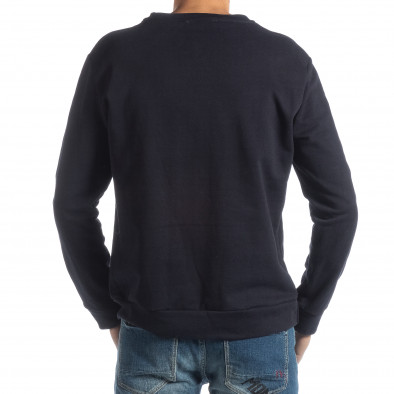 Ανδρική σκούρα μπλε βαμβακερή μπλούζα ICONS it051218-45 4