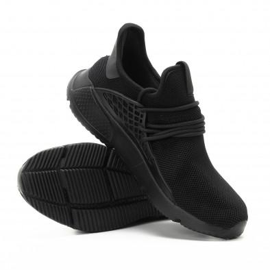 Ανδρικά μαύρα αθλητικά παπούτσια ελαφρύ μοντέλο it301118-7 4