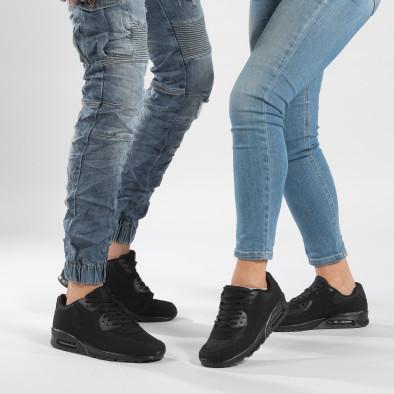 Μαύρα sneakers για ζευγάρια με αερόσολα cs-it160318-1-it150319-54 2