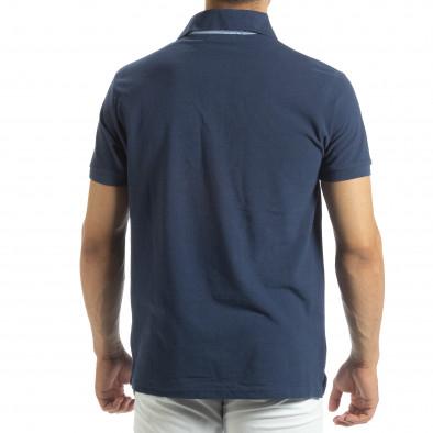Ανδρική μπλέ  polo shirt  it120619-32 3