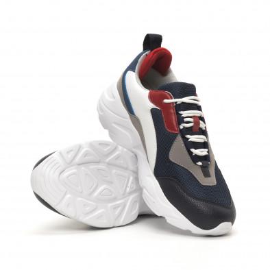 Ανδρικά μπλε αθλητικά παπούτσια Chunky it150419-118 4