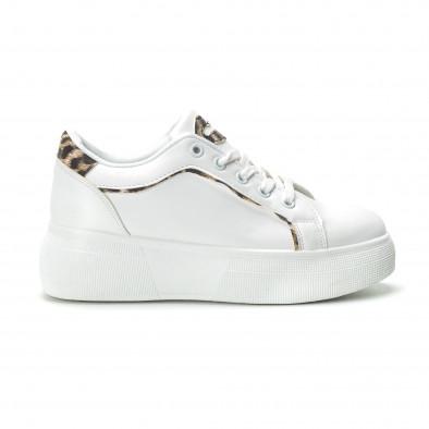Γυναικεία λευκά sneakers Animal print it250119-69 2
