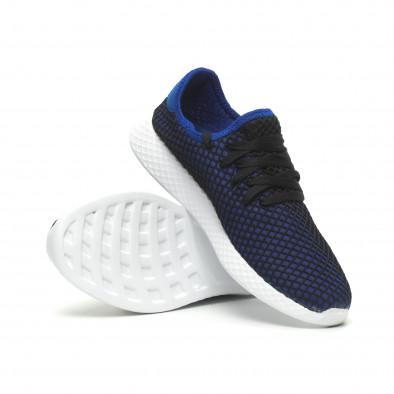 Ανδρικά μπλε αθλητικά παπούτσια Mesh ελαφρύ μοντέλο it230519-2 5