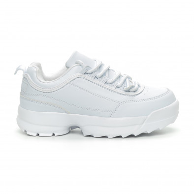Γυναικεία λευκά αθλητικά παπούτσια Chunky it150319-52 2