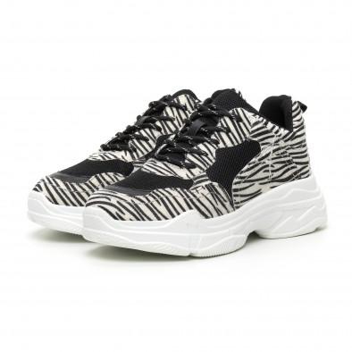 Chunky γυναικεία αθλητικά παπούτσια με μοτίβο ζέβρα it110919-8 4