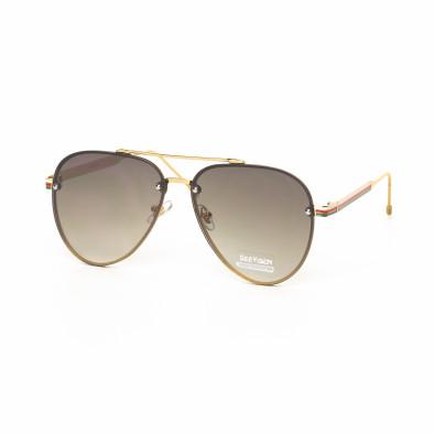 Ανδρικά καφέ γυαλιά ηλίου πιλότου it030519-8 2