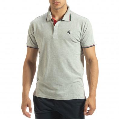 Ανδρική γκρι polo shirt  it120619-24 2