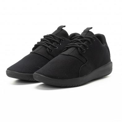 Ανδρικά μαύρα αθλητικά παπούτσια ελαφρύ μοντέλο it301118-4 3
